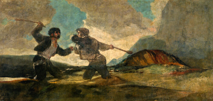 Франциско Гойа - Поединок на дубинах