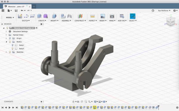 3д модель детали в Fusion 360