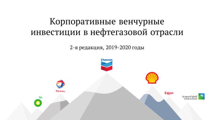 Корпоративные венчурные инвестиции в нефтегазовой отрасли